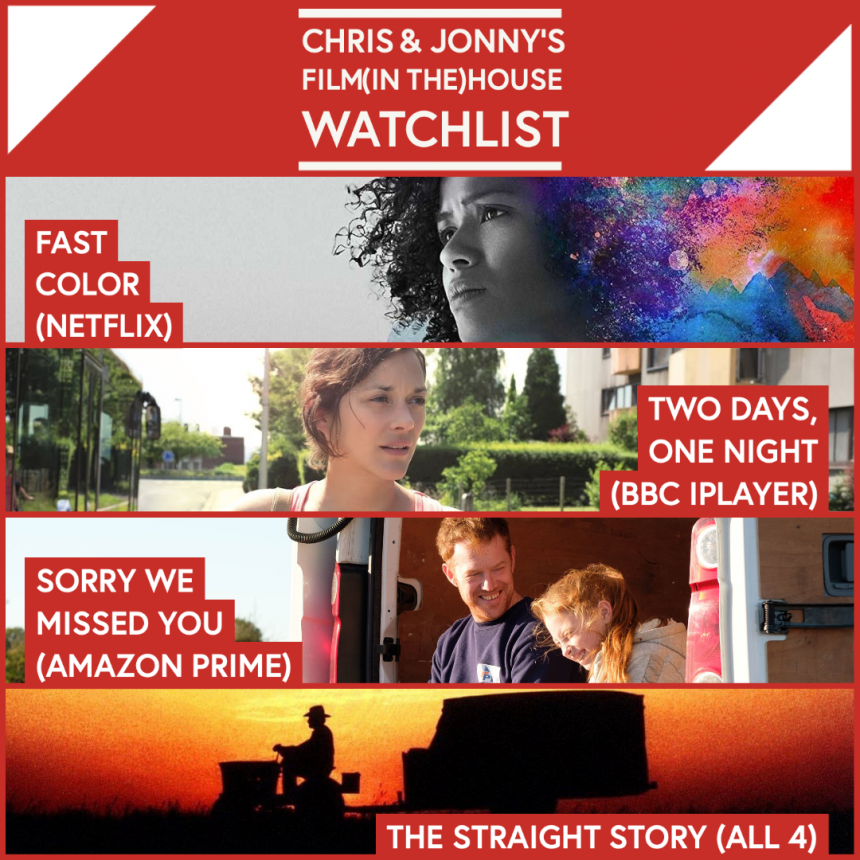 Chris & Jonny's Filmhouse Watch List 10/07/2020
