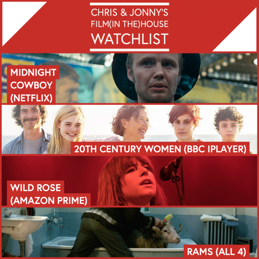 Chris & Jonny's Filmhouse Watch List 31/07/2020