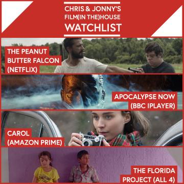 Chris & Jonny's Filmhouse Watch List 21/08/2020