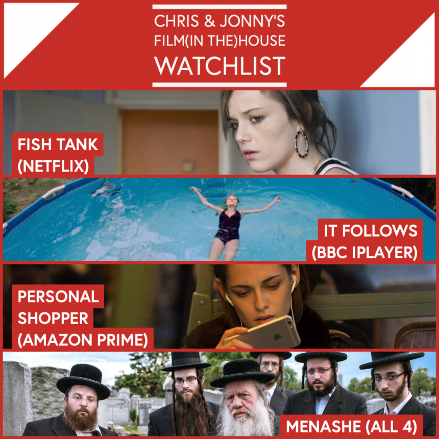 Chris & Jonny's Filmhouse Watch List 04/09/2020