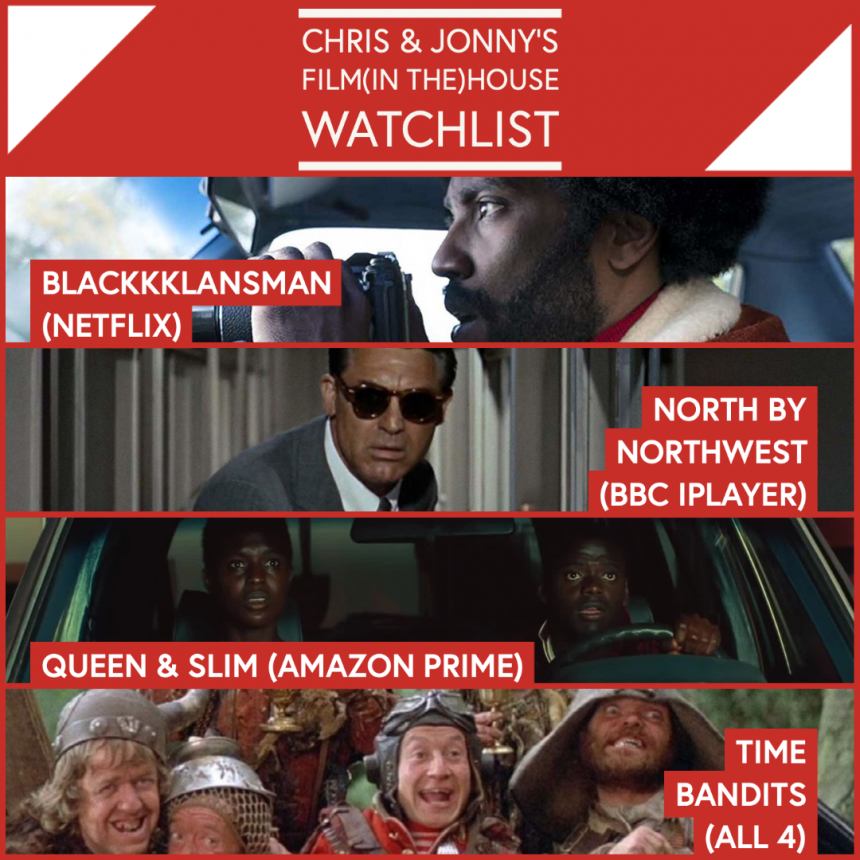 Chris & Jonny's Filmhouse Watch List 02/10/2020
